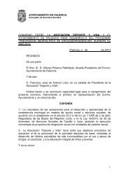 CONVENIO DEPORTE y VIDA - Ayuntamiento de Palencia