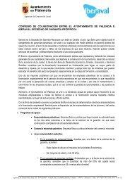 convenio - Ayuntamiento de Palencia