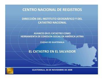 El Catastro en el Salvador