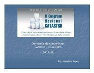 Convenios de cooperación de Catastro con Municipios