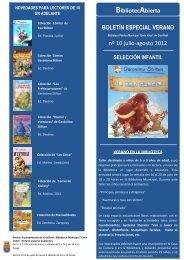 boletín novedades biblioteca julio 2012 infantil-juvenil