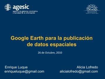 Google Earth para la publicación de datos espaciales