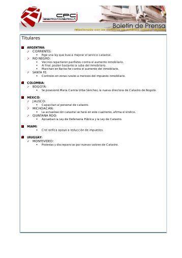 Boletín de prensa del mes de MARZO 2008