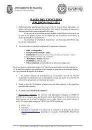 BASES DEL CONCURSO - Ayuntamiento de Palencia
