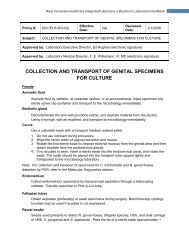 collection and transport of genital specimens for culture