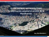 """Quito Distrito Metropolitano: """"La Información catastral al servicio de ..."""