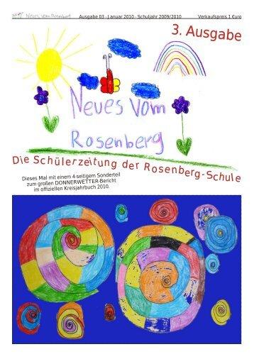 Schülerzeitung Ausgabe 03 (Januar 2010) - Neues vom Rosenberg