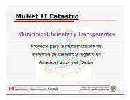 MuNet II Catastro - CPCI