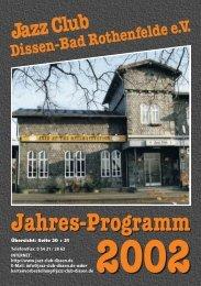 2002 - Jazz Club Dissen - Bad Rothenfelde eV