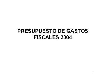 Presupuesto de Gastos Fiscales 2004 - Secretaría de Hacienda y ...