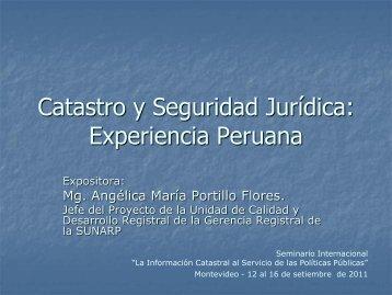 Catastro y Seguridad Jurídica: Experiencia Peruana