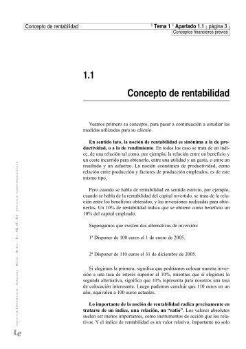 Concepto de rentabilidad - Iniciativas Empresariales