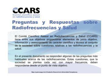 Preguntas y Respuestas sobre Radiofrecuencias y Salud