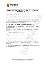 La Mesa del Comercio de la Ciudad de Palencia - Ayuntamiento de ...