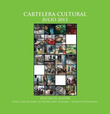 Cartelera julio 2013.pdf - Secretaría de Hacienda y Crédito Público