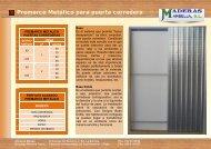 Premarco Metálico para puerta corredera - Maderas Marbella, SL.