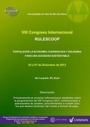 Información Rulescoop 2013 - Universidad de Costa Rica