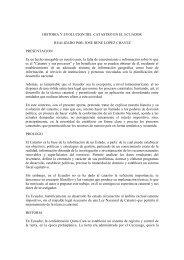 HISTORIA Y EVOLUCION DEL CATASTRO EN EL ECUADOR ...