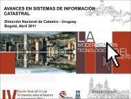 Avances en Sistemas de Información catastral
