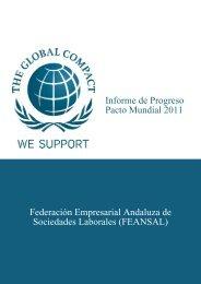 Informe de Progreso Pacto Mundial 2011 Federación ... - Feansal
