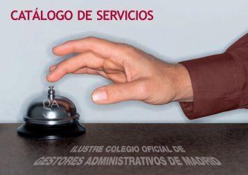 Catalogo Servicios 2012 - Ilustre Colegio Oficial de Gestores ...