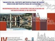 Municipio del Distrito Metropolitano de Quito - CPCI