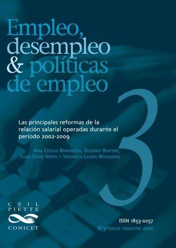 Las principales reformas de la relación salarial ... - Políticas Públicas