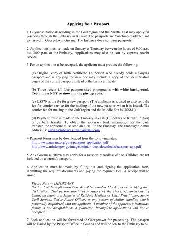 Applying For Visas Guyana News And Information
