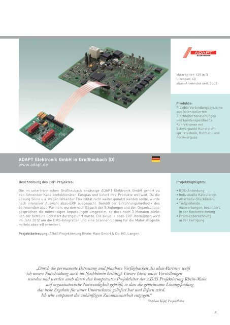 ERP-System für die Elektroindustrie - ABAS Software AG