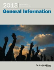 General Information - New York Times – inEducation – Subscriptions