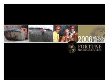 2006 - Fortune Minerals Limited