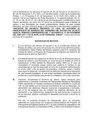 Exposición de motivos - Gobierno del Estado de Jalisco