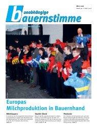 Europas Milchproduktion in Bauernhand
