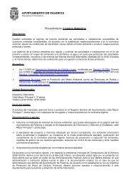 LICENCIA AMBIENTAL - Ayuntamiento de Palencia