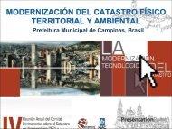 Modernización del Catastro Físico Territorial y Ambiental