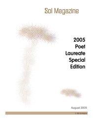 2005 Poet Laureate Special Edition - Sol Magazine