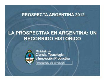 La prospectiva en Argentina - Universidad Nacional de Cuyo
