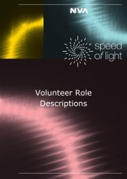 Volunteer Role Descriptions - Speed of Light