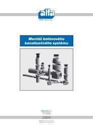 Montáž betónového kanalizačného systému - PREFA SUČANY