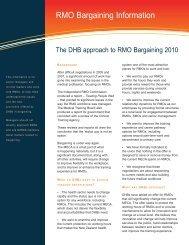 RMO Bargaining Information - Waikato District Health Board