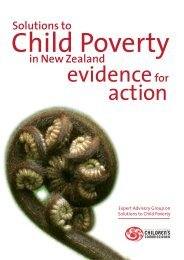 Solutions to Child Poverty in New Zealand: Evidence for ... - Scoop