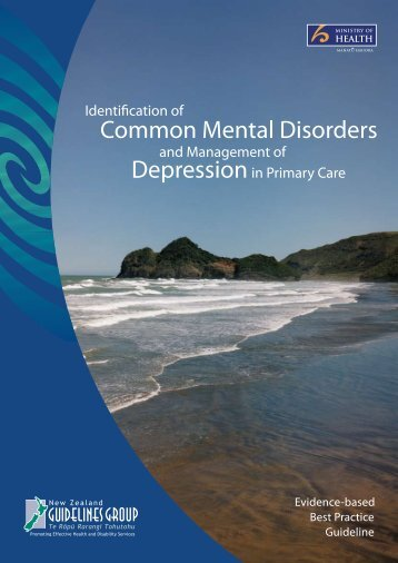 Common Mental Disorders Depression - New Zealand Doctor