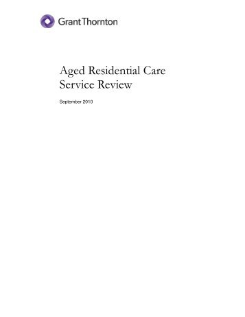 Aged Residential Care Service Review - New Zealand Aged Care ...