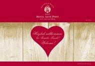 Weihnachts- und Silvesterprogramm - Hotel Alte Post