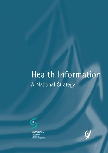National Health Information Strategy - Irish Health Repository