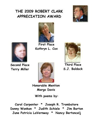 The 2009 Robert Clark Appreciation Award - Sol Magazine