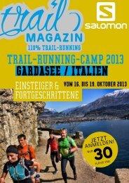 TRAIL-RUNNING-CAMP 2013 GARDASEE / ITALIEN - Trail Magazin