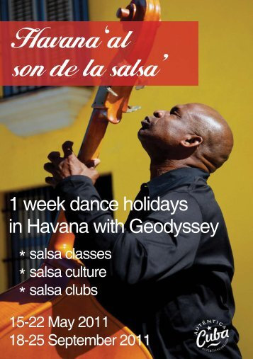 Geodyssey 'Havana al son de la salsa' 1 week dance holidays in Cuba
