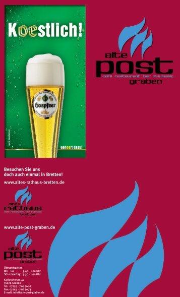 www.alte-post-graben.de www.altes-rathaus-bretten.de Besuchen ...