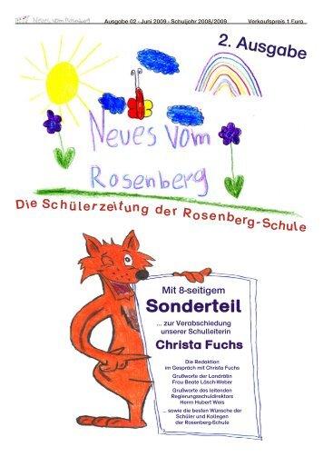 Schülerzeitung Ausgabe 02 (Juni 2009) - Neues vom Rosenberg